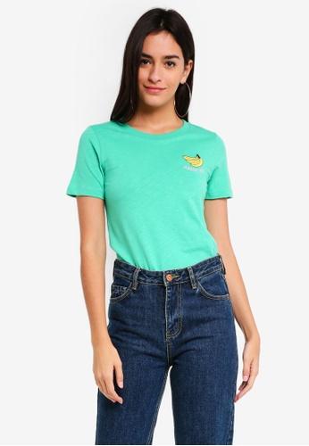 TOPSHOP green Bananas About You Motif T-Shirt 5747EAA359565CGS_1