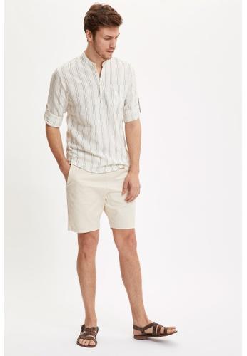 DeFacto beige Regular Fit Cotton Chino Bermuda Shorts E2D5BAACEDCC20GS_1
