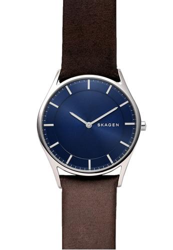 Skagen brown Skagen Holst Slim Leather Watch SKW6237 SK533AC91NGYMY_1