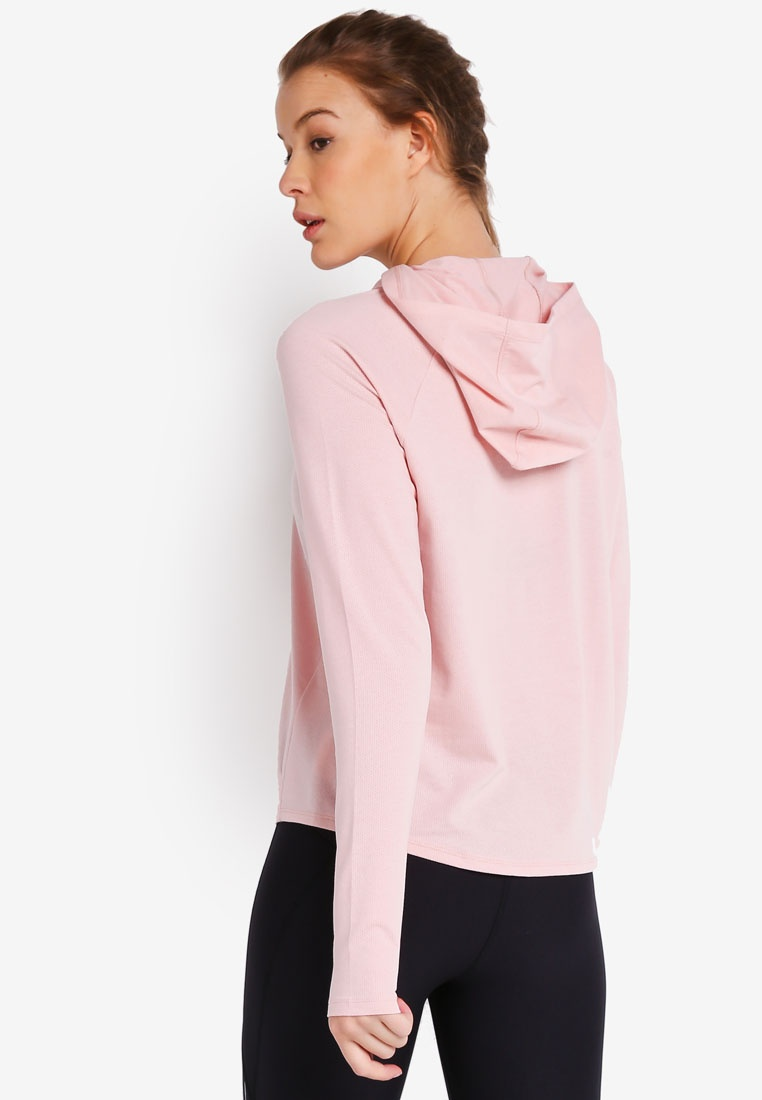 Pink Pindot Graphic Tonal Flushed Armour White Under Hoodie q14wXxrv1