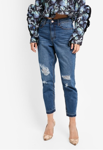 LOST INK blue Off Duty Mom Jeans LO238AA0T1QOMY_1