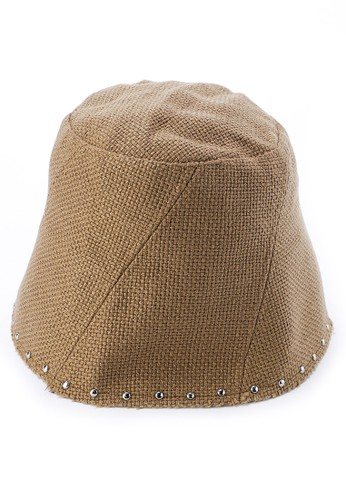 Urban State brown Studded Gunny Beanie A0931ACD60F479GS_1