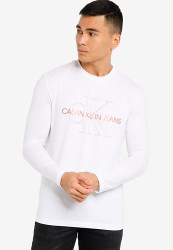 CALVIN KLEIN white Slim Copper Tee - CK Jeans 6AEC8AAD63C3E1GS_1