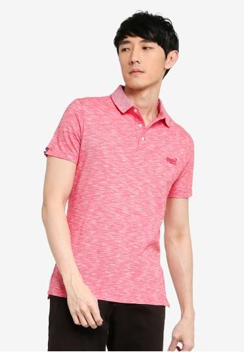 SUPERDRY red Orange Label Jersey Polo Shirt 610FDAA76BA3D4GS_1