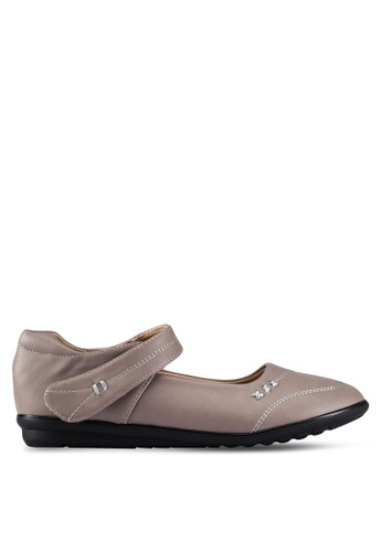 Louis Cuppers grey Mary Jane Flats LO977SH0RX3VMY_1