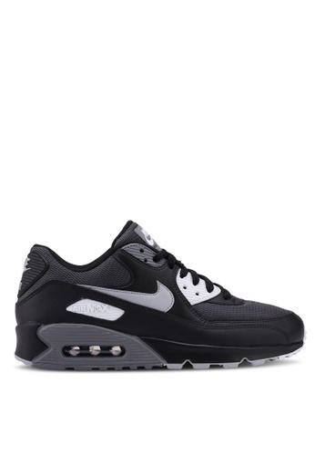 newest a045b a427f ... 6936FSH43B0C0EGS1 Nike black and grey Mens Nike Air Max 90 Essential  Shoes 3748ASH8D1A4E0GS1 ...