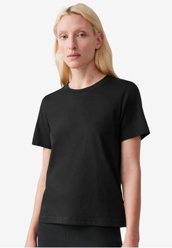 COS black Regular Fit T-Shirt F348CAA205BF1DGS_1
