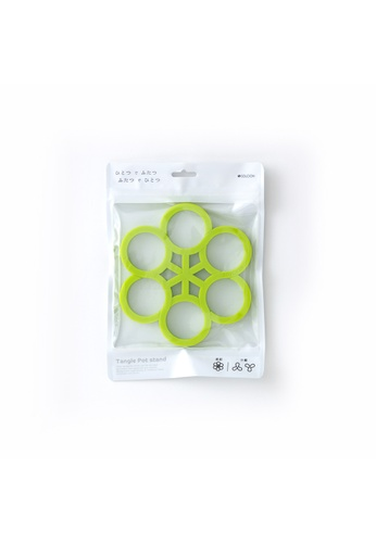 Solcion Ivy Tangle Pot Stand - interconnecting trivet set (Green) 3F71DHL62EC429GS_1