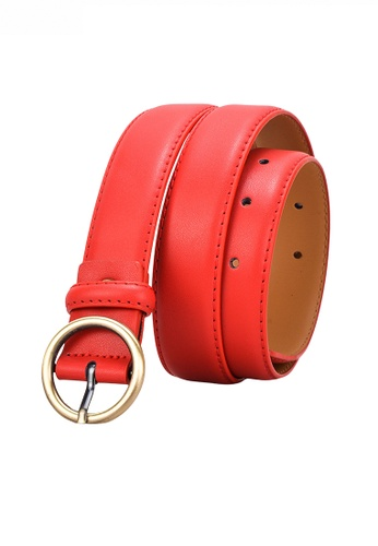 Twenty Eight Shoes red Metal Round Buckle Leather Belt JW CY-100 B6450ACB8A8F0FGS_1