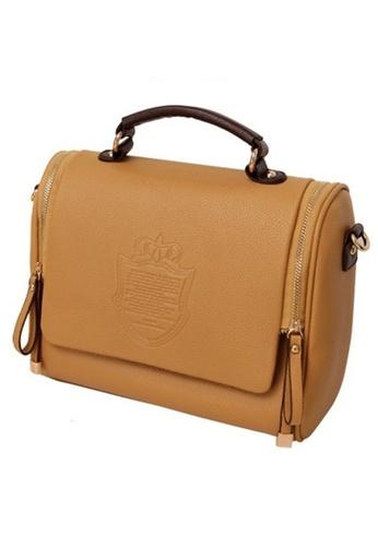 25f3dd8da0 Jackbox Korean Casual British Retro PU Leather Shoulder Sling Bag 313  (Khaki) JA762AC64ALNMY 1