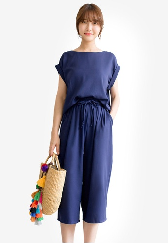 Tokichoi navy Basic Top and Culotte Set C6910AA482477EGS_1