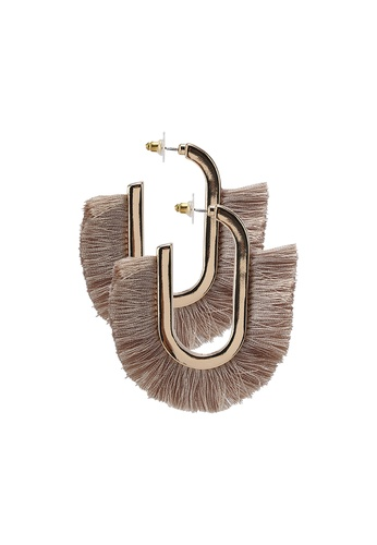 a64d93ab659 Shop Saturation Sand Tassel Hoop Earrings Online on ZALORA Philippines