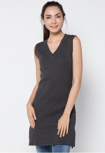 Noir Sur Blanc grey Ladies Dresses NO321AA96ITNID_1
