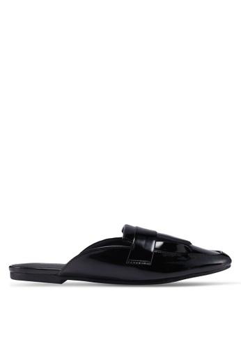 Dorothy Perkins black Black Lennox Fringe Loafers A411CSHF7912E1GS_1
