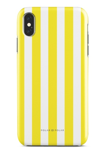 Polar Polar yellow Yellow Stripe Dual-Layer Tough Case Glossy For iPhone XS Max B970BAC8E1C91AGS_1