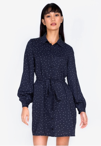 ZALORA BASICS multi Basic Tie Waist Shirt Dress 8747CAA9AD4E88GS_1