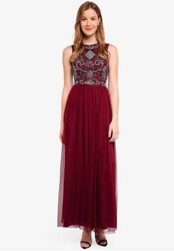 Lace & Beads red Paula Ob Maxi Dress B8CABAAE0D1869GS_1