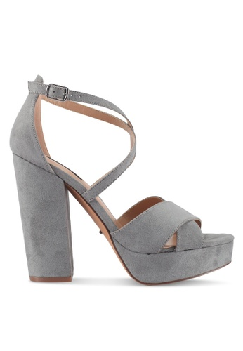 ONLY blue Allie Crossed Strappy Heels 95EBASHE5D30B2GS_1