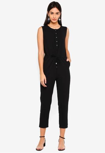 ZALORA BASICS black Sleeveless Jumpsuit C9D06AABE7DAE7GS_1