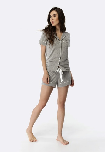 Deshabille grey Manor Short PJ Set DB939AACAD2D33GS_1