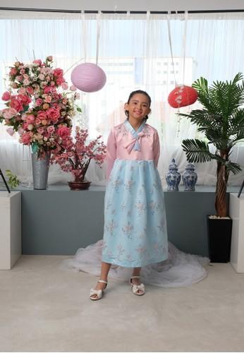 Princessa Flami blue Hanbok Biru Korea AG783 077E7KA4BDD0E7GS_1