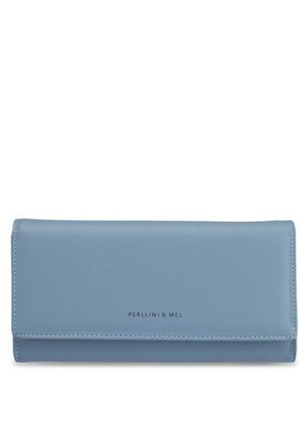 Perllini&Mel blue Faux Leather Long Wallet 9D0B4AC61CEF52GS_1