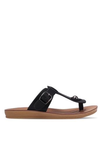 Noveni black Casual Sandals NO978SH0RX34MY_1