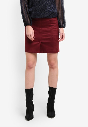 Dorothy Perkins red Berry Suedette Mini Skirt DO816AA0S2JPMY_1