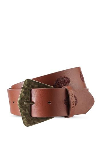 Desigual brown Leather Paisley Belt F692BAC7FF5499GS_1