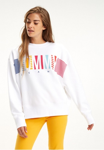 ac6d7633d Buy Tommy Jeans TJW COLORFUL BLOCK TOMMY CREW Online on ZALORA Singapore