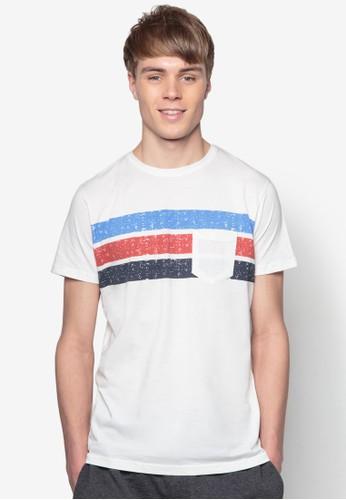 Peter 條紋拼接純棉TEE, 服飾, 條esprit 衣服紋T恤