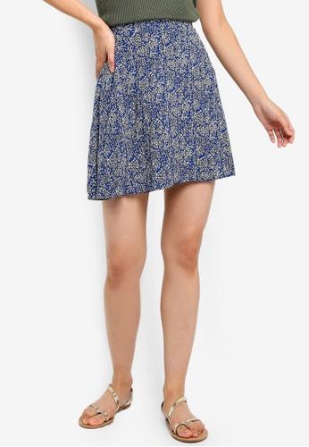 Brave Soul blue All Over Printed Skirt 0BA22AA32C2D2EGS_1