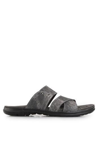 Dr. Kevin black Sandals & Flip Flops Sandals 17203 Hitam Leather DR982SH00UEXID_1