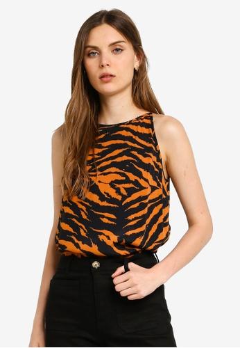 5c593903c5717a Buy WAREHOUSE Tiger Print Cami Top Online on ZALORA Singapore