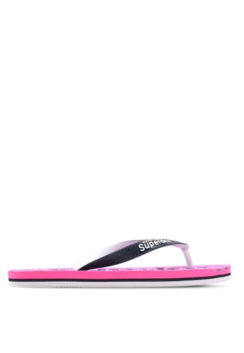 Superdry pink and purple Scuba Flip Flops C3588SHAAF8343GS_1