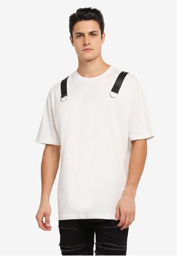 Flesh IMP white Buckle Up Force Oversized T-Shirt FL064AA0SJNQMY_1