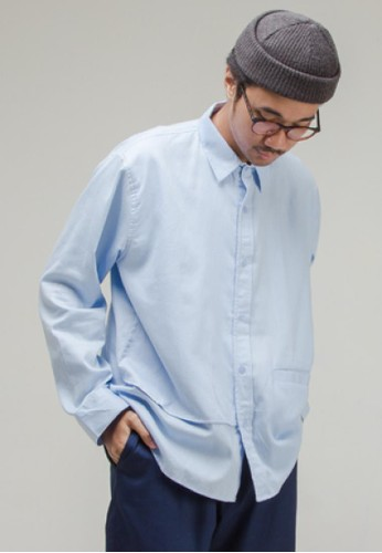 THE GOODS DEPT blue ANDERS - Come Long Sleeve Shirt Light Blue E3D31AAFDDE4FCGS_1