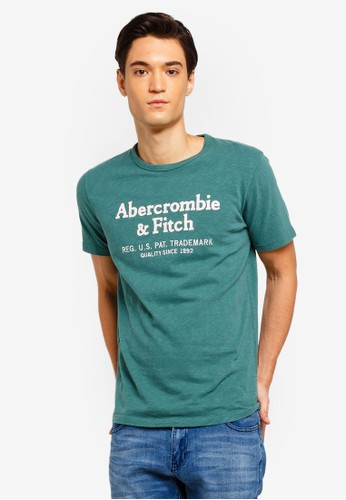 Abercrombie & Fitch green Tech Lockup T-Shirt D7F35AA8FC2E31GS_1