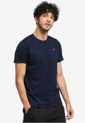 Hollister navy Core Icon Crew Neck T-Shirt 9E1E7AA18213E3GS_1