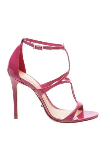 SCHUTZ 粉紅色 SCHUTZ 搭帶高跟涼鞋 - AMELIA (粉色) 9BFDFSH8874A7FGS_1