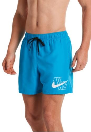"Nike blue Nike Logo Lap 5"" Volley Short 231A4US3B5C657GS_1"