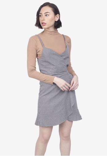 Caoros black Ruffled Bottom Dress 6A084AAB7B4212GS_1