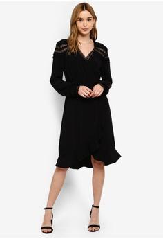 1e247e0fd6d1 Vero Moda Cabana Lace Wrap Dress RM 239.00. Sizes XS S M L