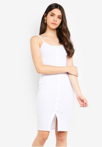 Supre white Button Rib Cami Mini Dress 7FC92AA126524EGS_1