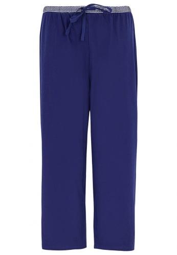 MARKS & SPENCER blue Cotton Cropped Pyjama Bottoms 6BFB8AA8AA57ECGS_1