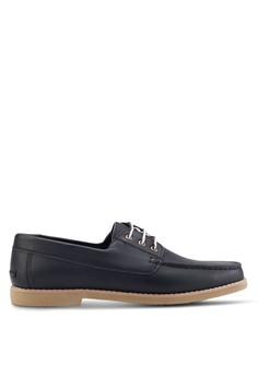 【ZALORA】 三眼仿皮船型鞋