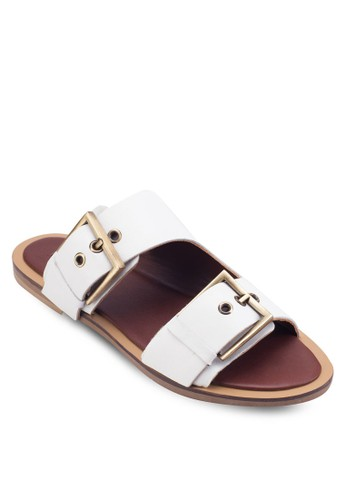 Franco Double Buckle Slideesprit outlet台北rs, 女鞋, 鞋