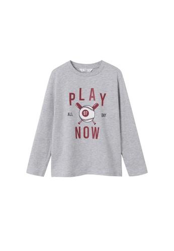 MANGO KIDS grey Printed Long Sleeves T-Shirt FABEFKA7F2CA0CGS_1