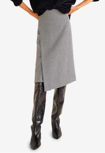 Mango black Houndstooth Skirt 460D1AAF180868GS_1