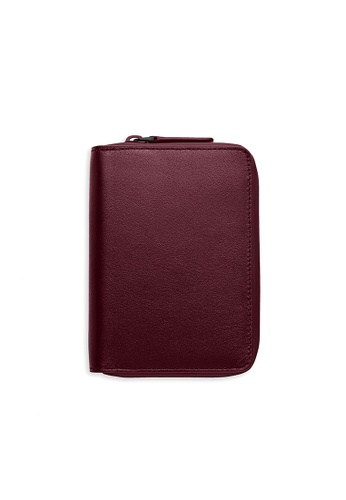 PLAIN SUPPLIES red INE Zipper Bifold Wallet in Burgundy 5FF43ACC7D0736GS_1